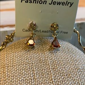 Fashion Jewelry Jewelry - Classic Brown twist Earring & Necklace Set